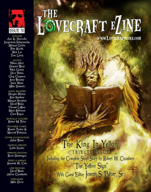"Lovecraft eZine ""King in Yellow"" special issue, April 2014"