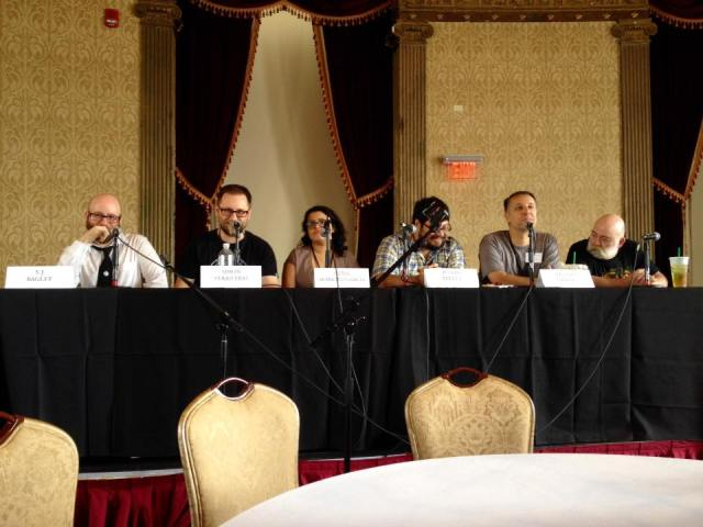 The Future of Weird Fiction panel (photo by Scott Nicolay)
